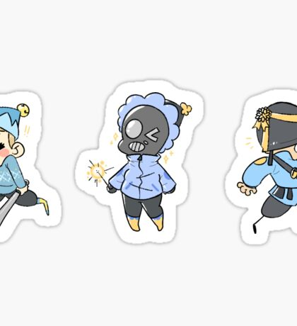 Blu Team Attack Class Sticker Sheet!! Sticker