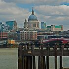 A view to St Paul's Cathedral, London by JMChown