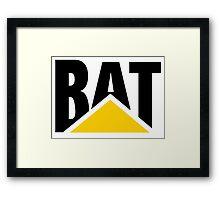CAT Parody (BAT) Framed Print
