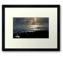 In Heavens Spotlight Framed Print