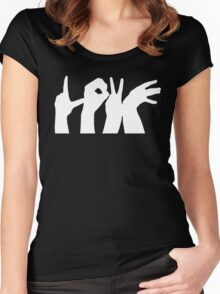 LOVE hands Women's Fitted Scoop T-Shirt