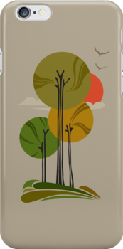 Autumn Trees [iPhone cover] by veverka