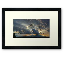 ©HCS Sunshine Between Cumulonimbus Castellanus II Framed Print