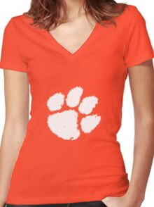 Clemson Football  Women's Fitted V-Neck T-Shirt