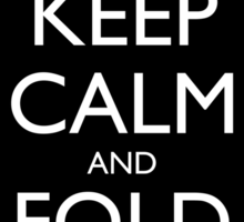 Keep Calm and Fold Paper - Unicorn / Black Sticker