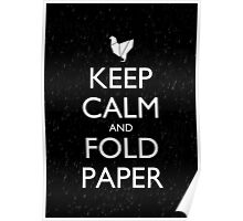 Keep Calm and Fold Paper - Chicken/Rain Poster