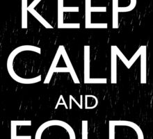 Keep Calm and Fold Paper - Chicken/Rain Sticker