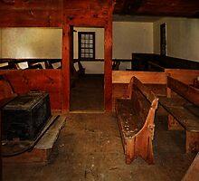 Inside the Quaker Meeting House by PineSinger