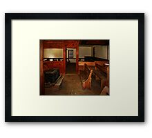 Inside the Quaker Meeting House Framed Print