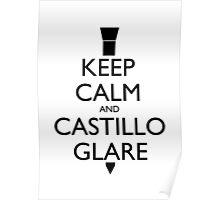 Keep Calm and Castillo Stare (Miami Vice) Poster