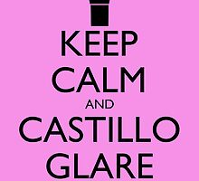 Keep Calm and Castillo Stare - Pink (Miami Vice) by olmosperfect