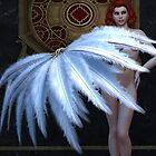 Burlesque Feather Dancer by Alexander Butler
