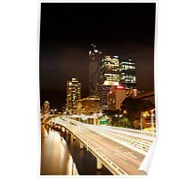 Pacific Hwy - Brisbane CDB @ Night Poster