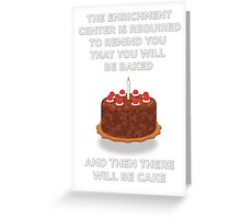 Portal Cake Greeting Card