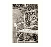 Vintage Looking Chair - Digital Oil Art Print