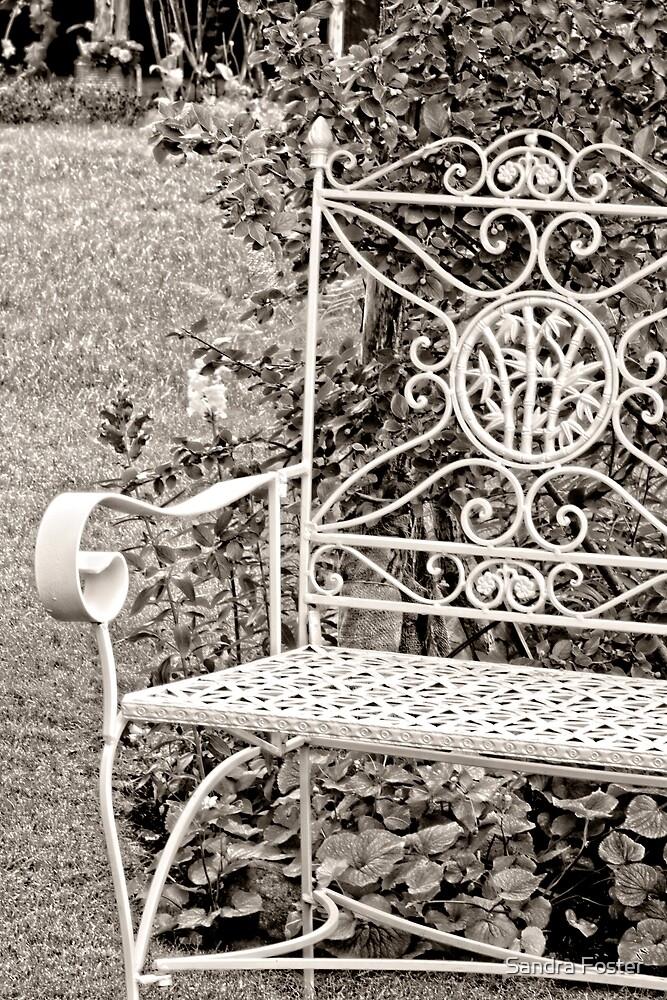 Vintage Looking Chair - Digital Oil by Sandra Foster
