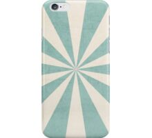 robins egg blue starburst iPhone Case/Skin