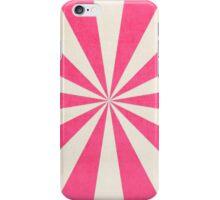 hot pink starburst iPhone Case/Skin