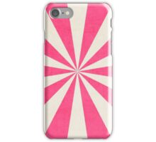 hot pink starburst iPhone Case/Skin