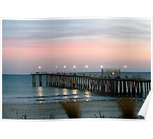 Sunrise at the Pier Poster