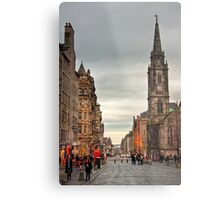 Early Evening Along the Royal Mile Metal Print