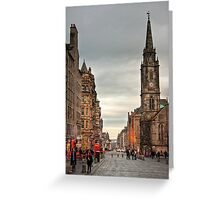 Early Evening Along the Royal Mile Greeting Card