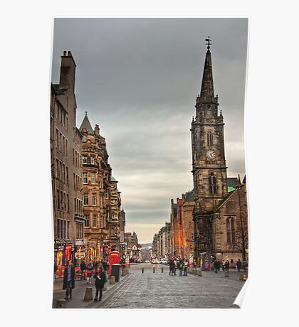 Early Evening Along the Royal Mile Poster