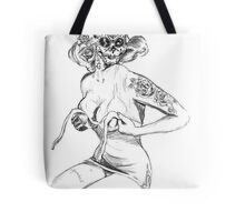 Fit To Be Tied Sugar Skull Tote Bag