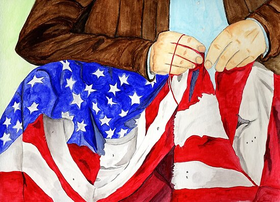 Sewing the American Flag 2013 by Anne Gitto
