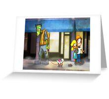 frankenstein: dog walker Greeting Card