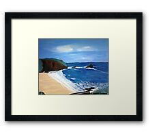 Cornish Tide - Acrylic Painting Framed Print