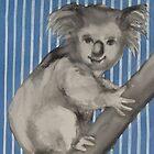Koala in a tree by janekaye