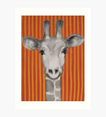 Mrs Giraffe Art Print