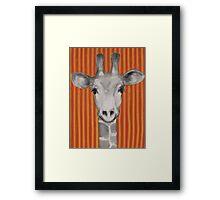 Mrs Giraffe Framed Print