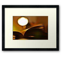 Light Reading Framed Print