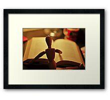 Little Reader Framed Print