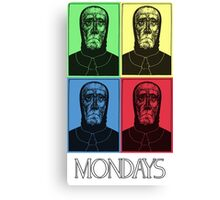 Mondays- In Color! Canvas Print