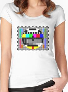 ABC TV Test Pattern Women's Fitted Scoop T-Shirt