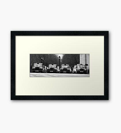 London Cabs Framed Print