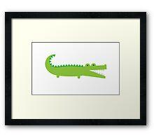 Green Alligator Framed Print