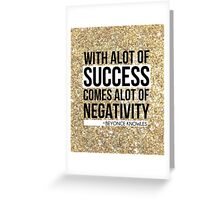 Beyonce Quote Glitter Greeting Card