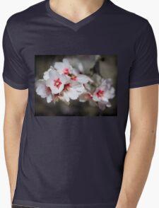 Almond Blossoms Mens V-Neck T-Shirt