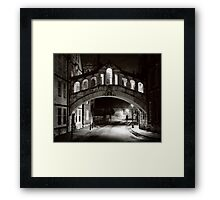 Bridge of Sighs, Oxford Framed Print