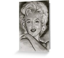 Marilyn in black and white Greeting Card