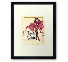 The Scarlet Witch Framed Print