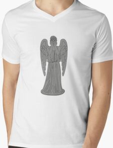 Single Weeping Angel Mens V-Neck T-Shirt