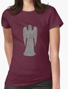 Single Weeping Angel Womens Fitted T-Shirt