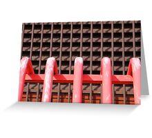 Pink Railings Greeting Card