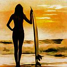 Surfer Girl - Venice Beach by David Rozansky