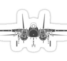 Grumman F-14 Tomcat Front View Sticker